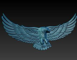 3D print model eagle bas relief