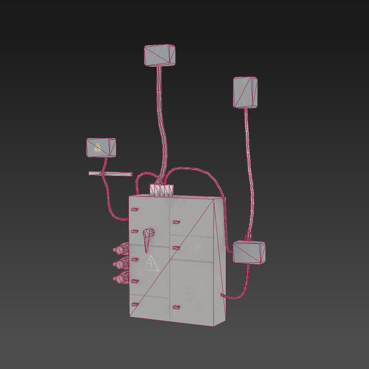 Old Fuse Box Realtime Multi Game Engine Aaa Quality Pbr Asset 1 3d Model Low Poly