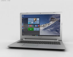 3D model Lenovo IdeaPad 500 Black ultraportable