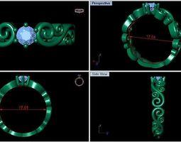 ring of patterns 3D print model