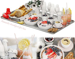 miscellaneous 3D Decorative set Romantic breakfast for two