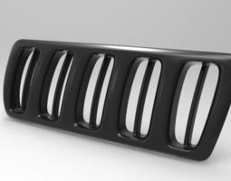 Automotive front body - grill 3D model