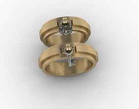 jewellery ring wedding lock key 3D printable model