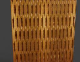 Tileable wooden panels 3D model