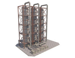 3D asset Industrial Silo 06