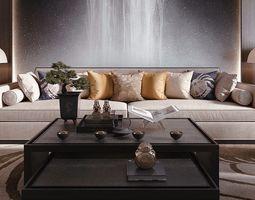 chinese style livingroom 3D model