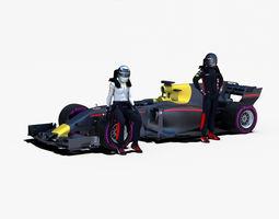 Formula 1 2017 car 3D model
