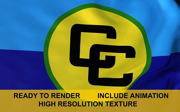 caricom 3d flag 3d model ma mb 1
