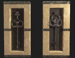 Wall Art Framed Keys 3D model game