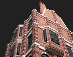 3D asset Victorian Brick Building Kit