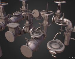 Hi Poly Subdivision Backflow Pipe Constructor 3D