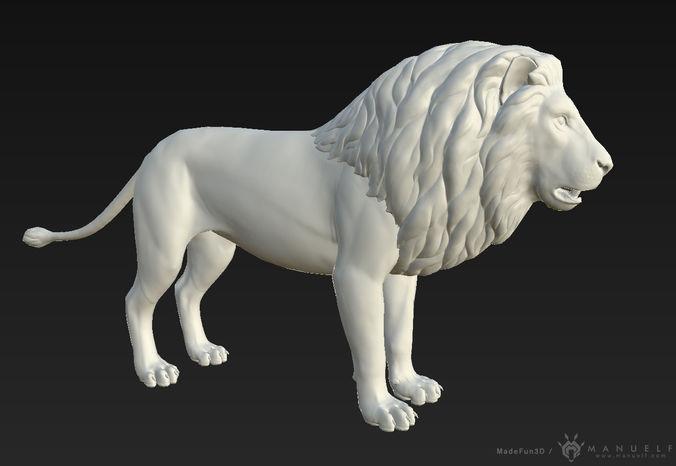 3d lion 3d model max obj mtl fbx ma mb tga 1