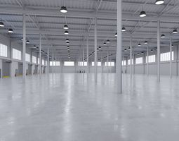 3D model Industrial Warehouse Interior 5