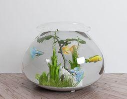 aquarium 3D model low-poly