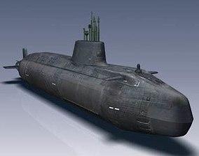 3D model Astute Class Submarine