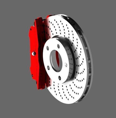 car brake disc 3d model max iam ipt 1