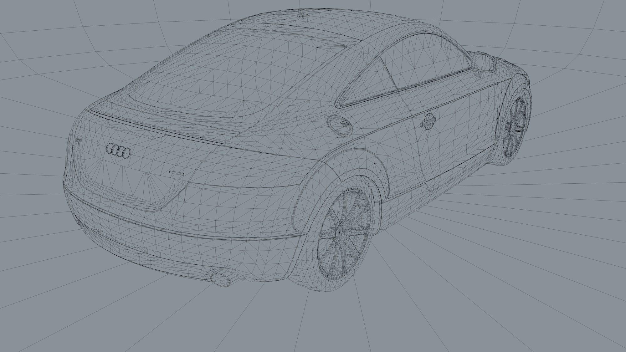 Audi TT 3D asset | CGTrader