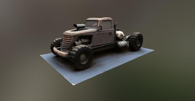 tow truck big brat 3d model low-poly max obj mtl 1