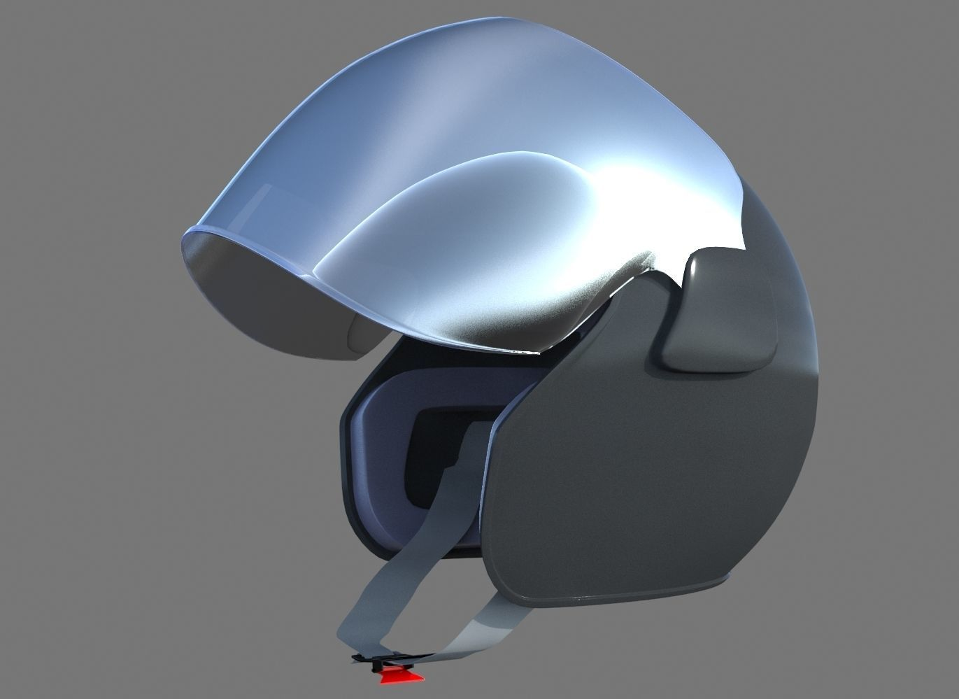 basic motor bike helmet high poly | 3D model