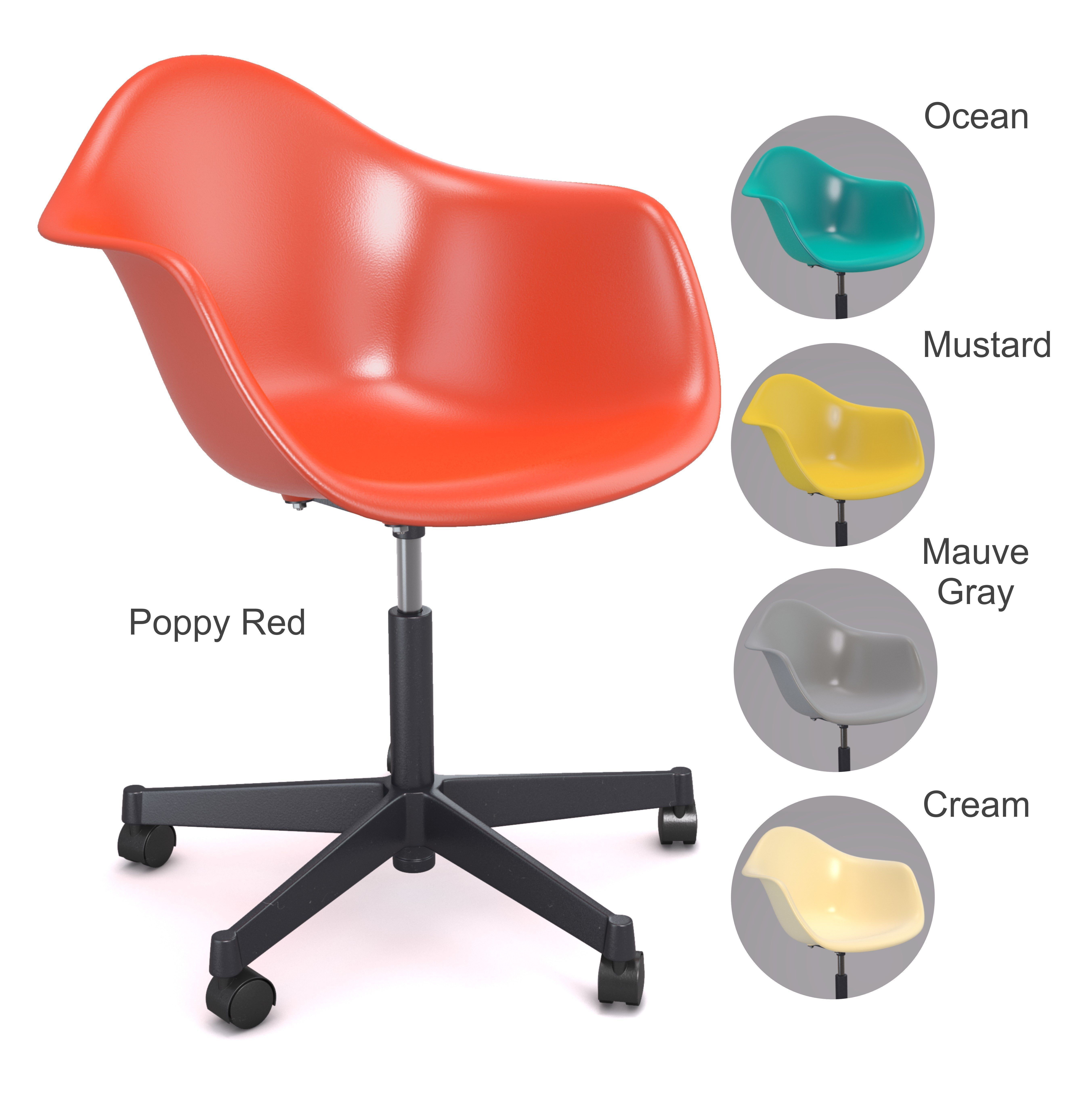Cool Eames Plastic Armchair Pacc Swivel Chair Vitra 3D Model Gamerscity Chair Design For Home Gamerscityorg