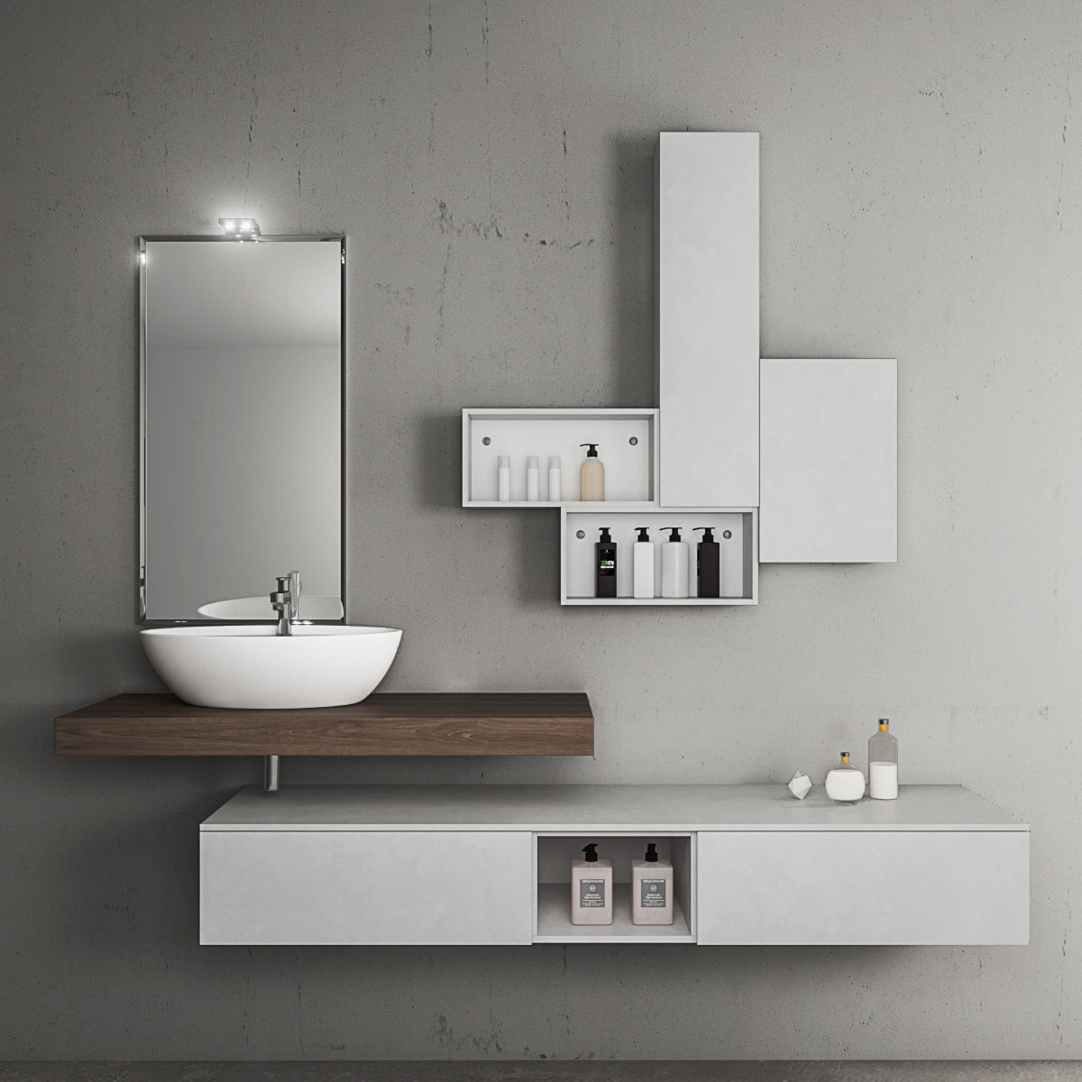 Bathroom furniture set Arcom eLy 3D | CGTrader