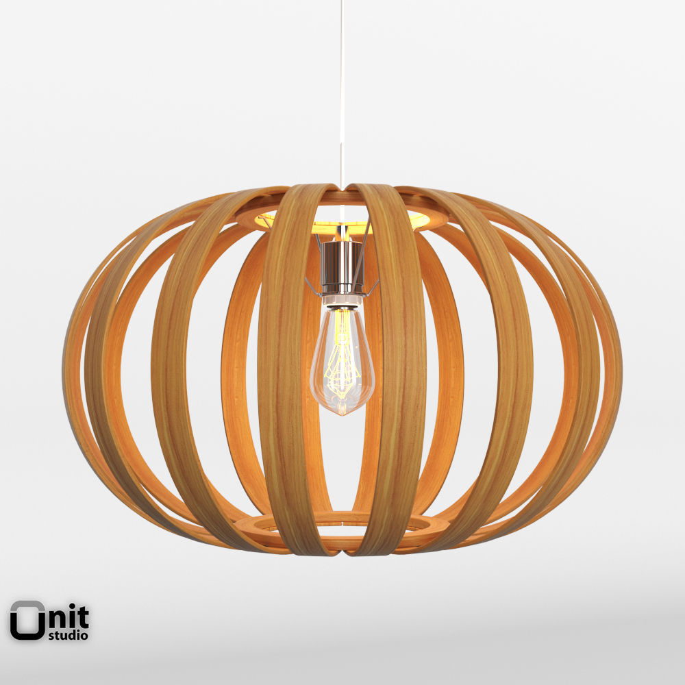 Bentwood Pendant Oblong By West Elm Model Cgtrader Full Size Of Lighting Best