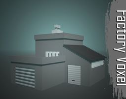 Factory Voxel 3D model