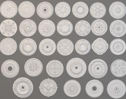 3D Rosettes Collection -1 - 32 pieces