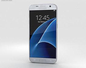 3D model Samsung Galaxy S7 Silver