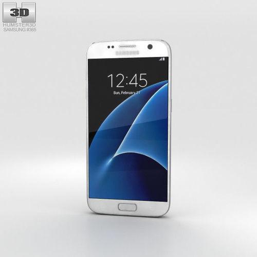 samsung galaxy s7 white 3d model max obj mtl 3ds fbx c4d lwo lw lws 1