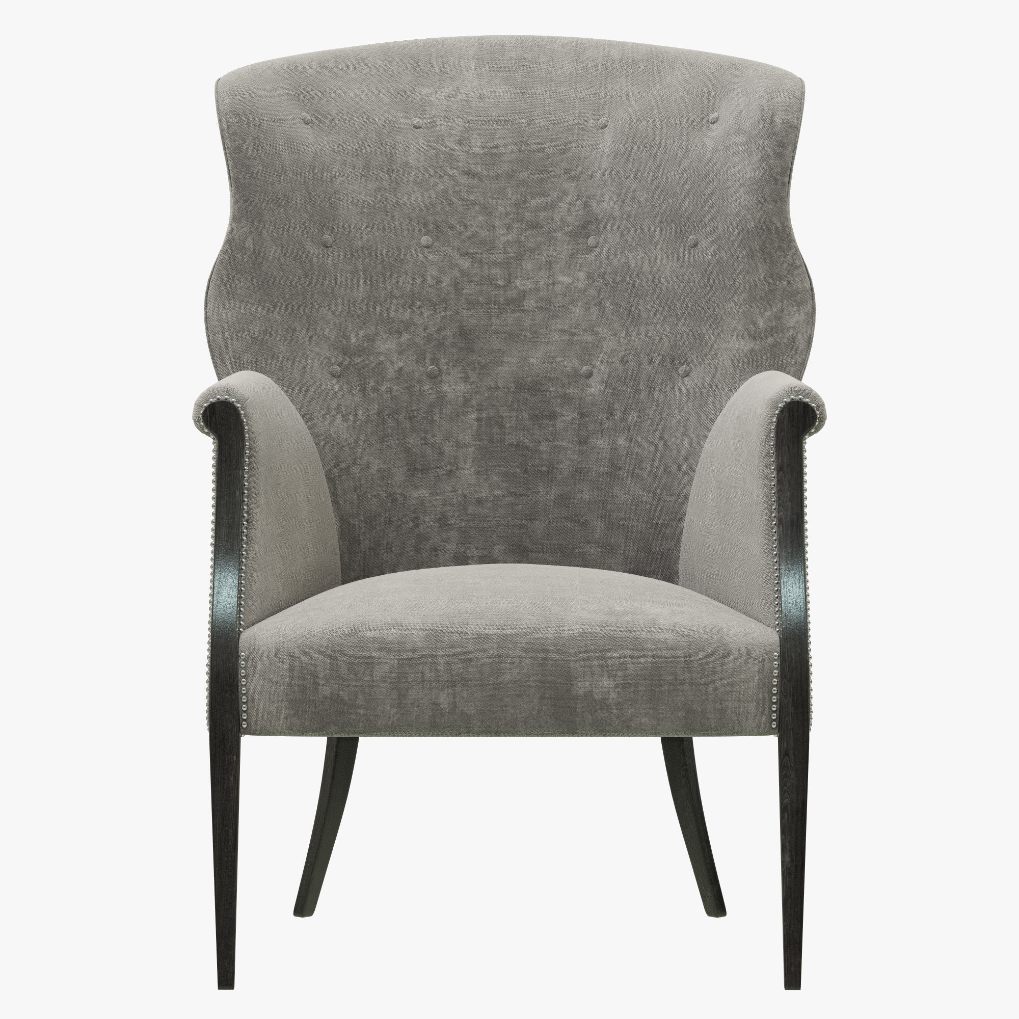 Restoration Hardware Edwardian Wingback Chair 3d Model