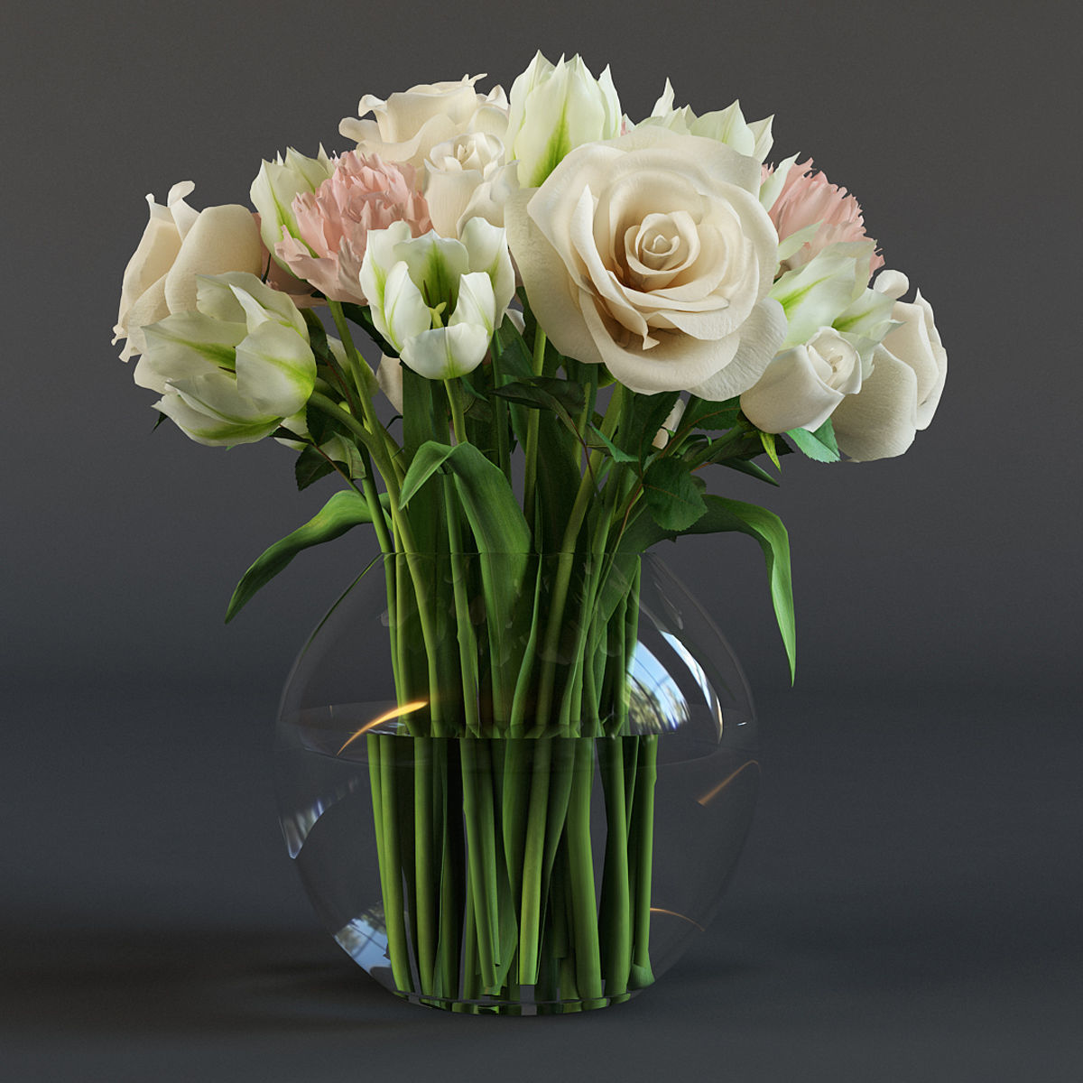 Bouquet of flowers 3D model | CGTrader