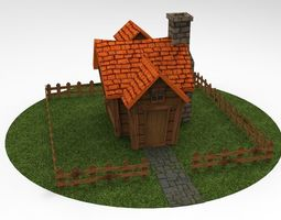 Low Poly House - Game Ready 3D asset