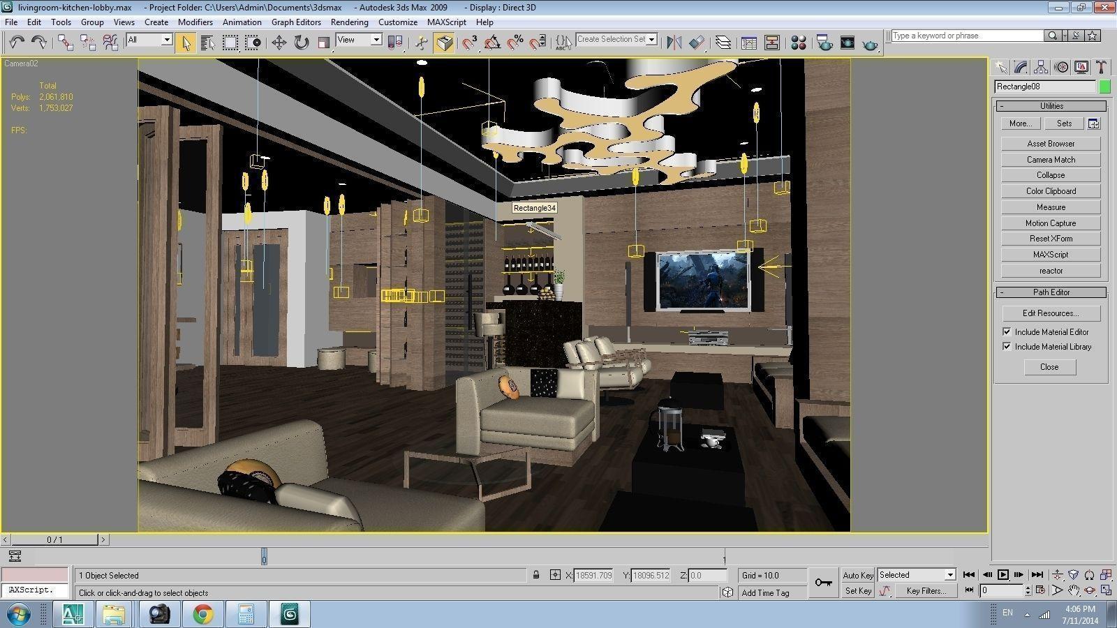 3d models cutaway apartment 3d model max for Com apartment model