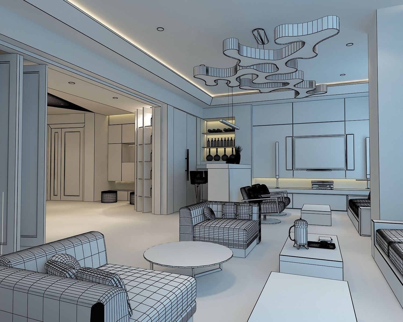 3d models cutaway apartment 3d model max for Apartment model