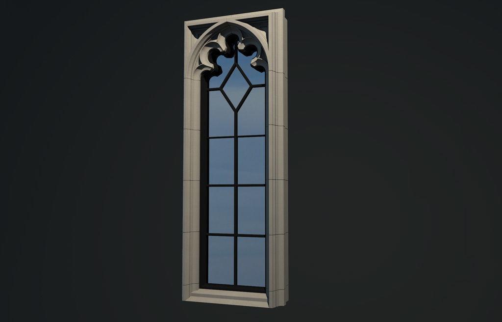WINDOW arch gothic 5 pane | 3D model