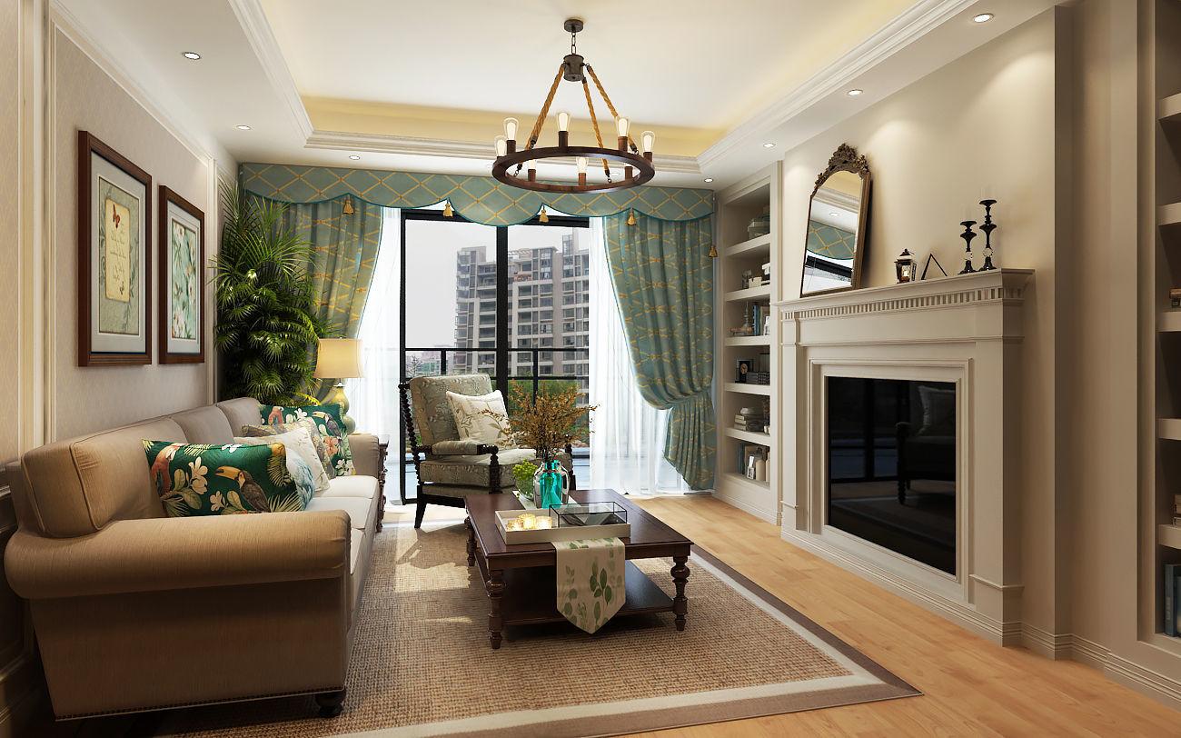 Modern American Style Living Room 3D model | CGTrader