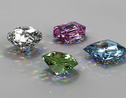 3D model Gem Stones Pack royal
