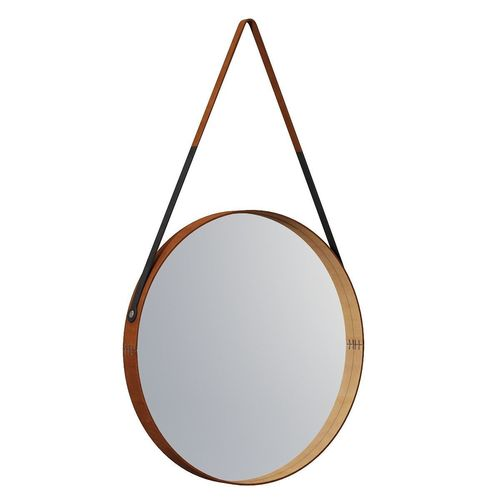 round leather mirror leather wrapped round leather wrapped mirror 3d model max obj mtl fbx round leather wrapped mirror 3d cgtrader