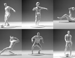 Footballer 02 Mega Pack 6 in 1 football 3D print model