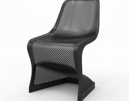 Bloom Modern Dining Chair 3D model