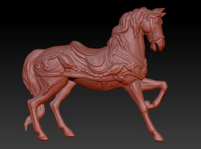 horse 3d model stl 1
