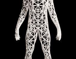 3D printable model Triangulated man