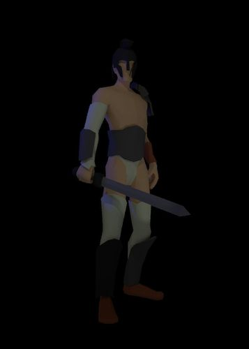 low poly gladiator rigged 3d model low-poly rigged fbx blend 1