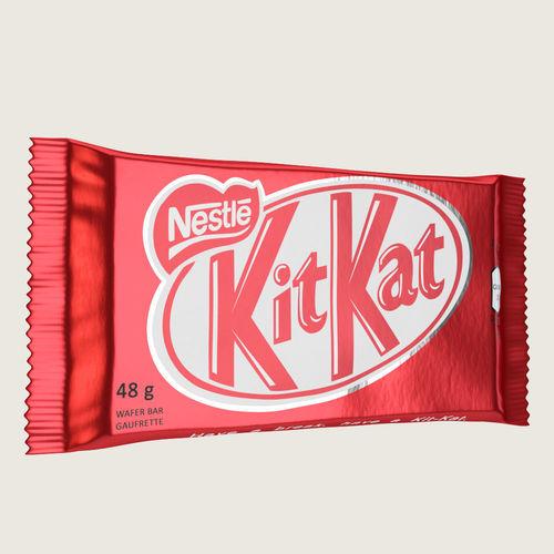 kitkat kit kat chocolate bar 3d model max obj mtl fbx ma mb 1