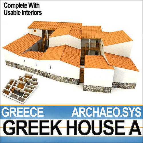 ancient greek house a 3d model obj mtl 3ds c4d dxf vue 1