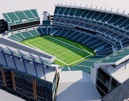3D model Lincoln Financial Field - Philadelphia