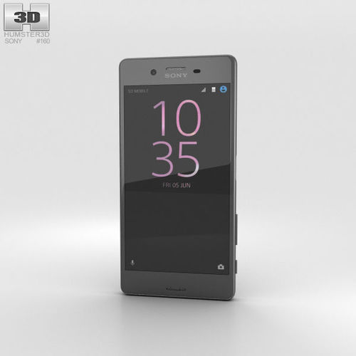 sony xperia x performance graphite black 3d model max obj mtl 3ds fbx c4d lwo lw lws 1
