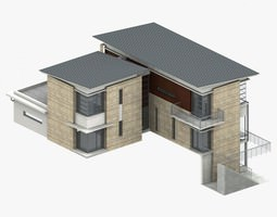 apartment-building Villa 3D