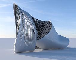public Futuristic building 5 3D